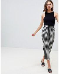 Ichi - Stripe Pants - Lyst