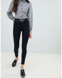 Miss Selfridge - High Waist Skinny Jeans In Black - Lyst
