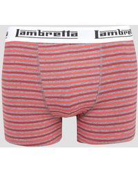 Lambretta - Single Pack Stripe Boxers - Lyst