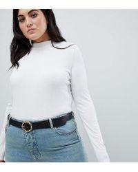 ASOS - Asos Design Curve Hammered Circle Waist & Hip Jeans Belt - Lyst