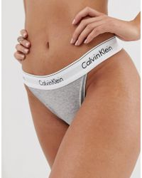 a869d608bcab Calvin Klein Modern Cotton High Waist Brief in White - Lyst