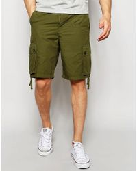 Pretty Green - Shorts With Pocket In Khaki - Lyst