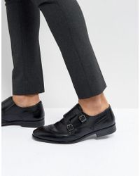 Red Tape - Monk Shoes In Black - Lyst