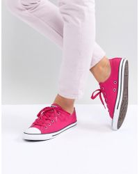 12601d3bb9b1 Converse - Chuck Taylor All Star Dainty Ox Trainers In Pink - Lyst