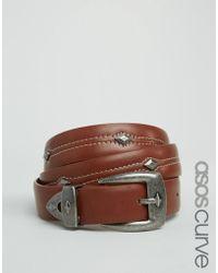 ASOS - Triangle Detail Jeans Belt - Tan - Lyst
