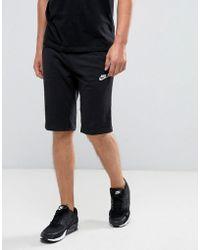Nike - Jersey Shorts In Black 804419-010 - Lyst