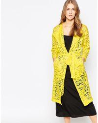 Closet - Closet Lace Duster Coat - Lyst