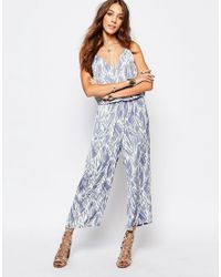 First & I - Printed Jumpsuit - Lyst