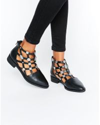 E8 - E8 By Miista Rain Embellished Cut Out Flat Ankle Boots - Lyst