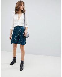 SELECTED | Printed Mini Skater Skirt | Lyst