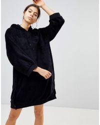 PUMA - Sherpa Oversized Hoody In Black - Lyst