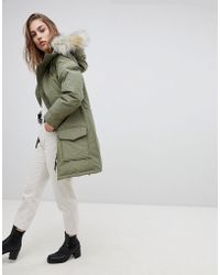 Levi's - Levi's Parka With Faux Fur Hood - Lyst