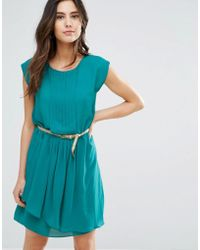 Louche - Shari Belted Pleat Front Dress - Lyst