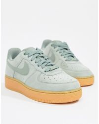 info for 3b030 8bfad Nike - Green Air Force 1 Trainers With Gum Sole - Lyst
