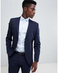 SELECTED - Slim Fit Suit Jacket In Navy Pinstripe - Lyst