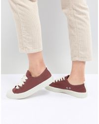 Pull&Bear - Baseball Trainer In Red (join Life) - Lyst
