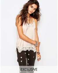 Native Rose | Cami Top With Lace Detail | Lyst
