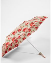 Cath Kidston - Minilite 2 Umbrella In Aubrey Rose Stone - Lyst