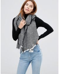 Hat Attack - Patchwork Pattern Oversized Scarf - Lyst