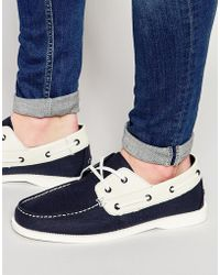 Bellfield - Boat Shoes In Navy Suede - Lyst