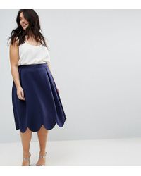 ASOS - Prom Skirt With Scallop Hem - Lyst