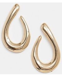 River Island - Teardrop Earrings In Gold - Lyst