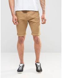 Firetrap - Cotton Twill Chino Short - Grey - Lyst