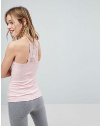 Hollister - Lace Back Racer Tank - Lyst