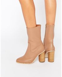 Lost Ink - Gorzo Calf Round Heeled Ankle Boots - Lyst