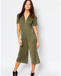 Daisy Street - Zip Front Minimal Jumpsuit - Lyst