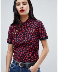 Fred Perry - X Bella Freud Star Print Polo Shirt - Lyst