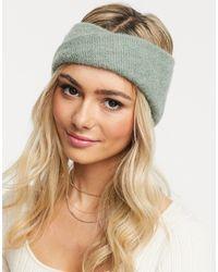 ASOS Wool Mix Twist Front Headband In Green