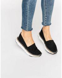 CALVIN KLEIN 205W39NYC - Jeans Genna Ck Black Logo Espadrilles - Black Logo - Lyst