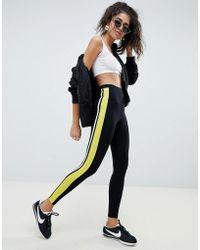 ASOS - leggings With Double Side Stripe - Lyst