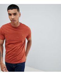 Farah - Gloor Slim Fit Logo Marl T-shirt In Rust - Lyst