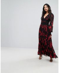 Forever New - Column Maxi Dress In Rose Print - Lyst