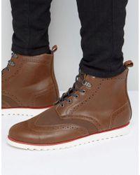 D-Struct - Brogue Boots - Lyst