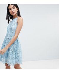 ASOS - Asos Design Tall Pinny Prom Mini Dress In Lace - Lyst