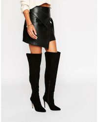 Lipsy - Panel Heeled Over The Knee Boots - Lyst