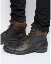 Bellfield | Noma Nubuck Laceup Boots | Lyst