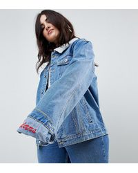 Liquor N Poker - Girlfriend Fit Jacket With Embroidered Hem Detail - Lyst