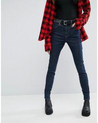 Tripp Nyc - High Waist Skinny Jeans - Indigo - Lyst