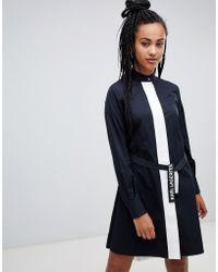 Karl Lagerfeld - Poplin Shirt Dress With Pleats - Lyst