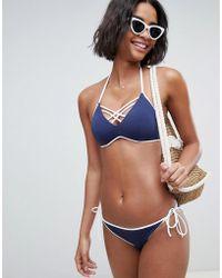 DORINA - Bora Bora Triangle Bikini Top In Blue - Lyst