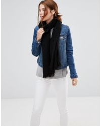 Lavand - Knitted Scarf - Black - Lyst