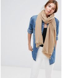 Lavand - Knitted Scarf - Brown - Lyst