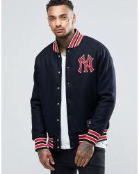 Majestic Filatures - Yankees Letterman Jacket In Wool - Lyst