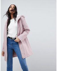 ASOS DESIGN - Premium Borg Raincoat - Lyst