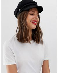 dcd9fa49df9cc4 ASOS Felt Panama Hat With Western Double Buckle Trim New Improved Fit -  Black in Black - Lyst
