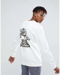 Volcom - Sweatshirt With Back Print - Lyst